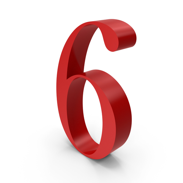 Number: 6 PNG & PSD Images