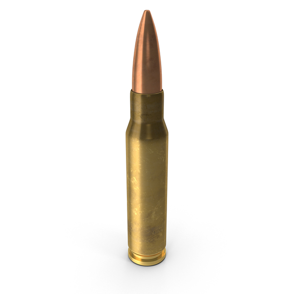 7.62x51: 7.62×51mm NATO Cartridge PNG & PSD Images
