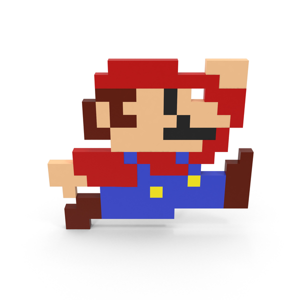 Game Character: 8-Bit Mario PNG & PSD Images