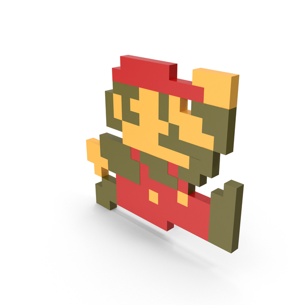 Game Character: 8 Bit Mario PNG & PSD Images
