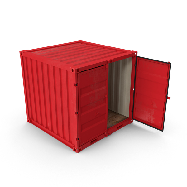 Cargo: 8 ft Shipping Container PNG & PSD Images