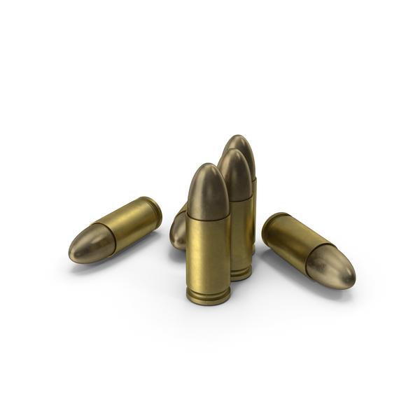 Munitions: 9x19 Parabellum Cartridge PNG & PSD Images