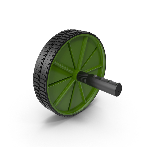 Machine: Ab Roller Wheel Green PNG & PSD Images