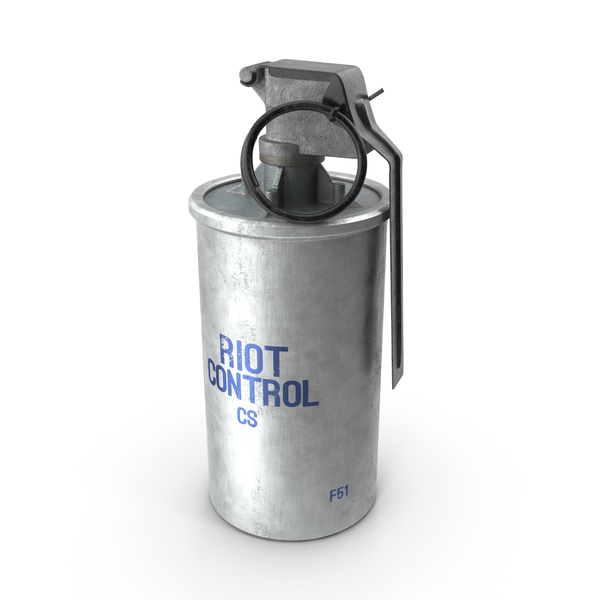 Smoke: ABC M7A2 Riot Control CS Grenade Old PNG & PSD Images
