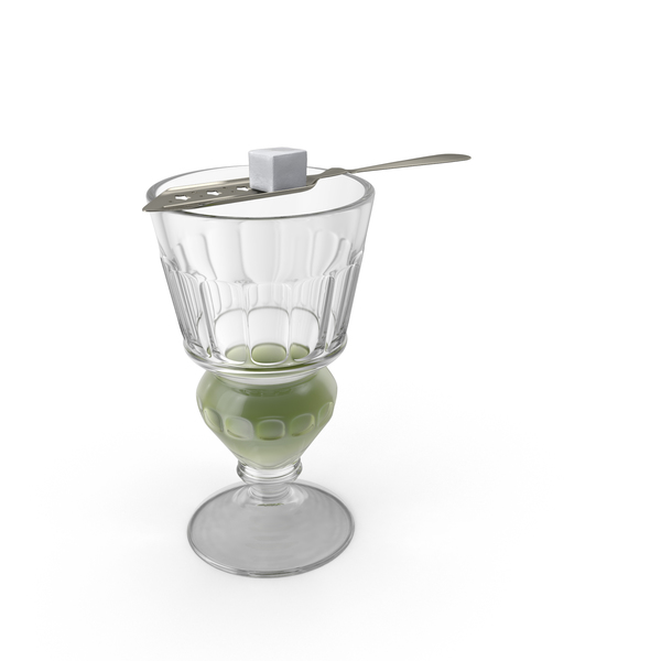 Absinthe Pontarlier Reservoir Glass With Spoon PNG & PSD Images