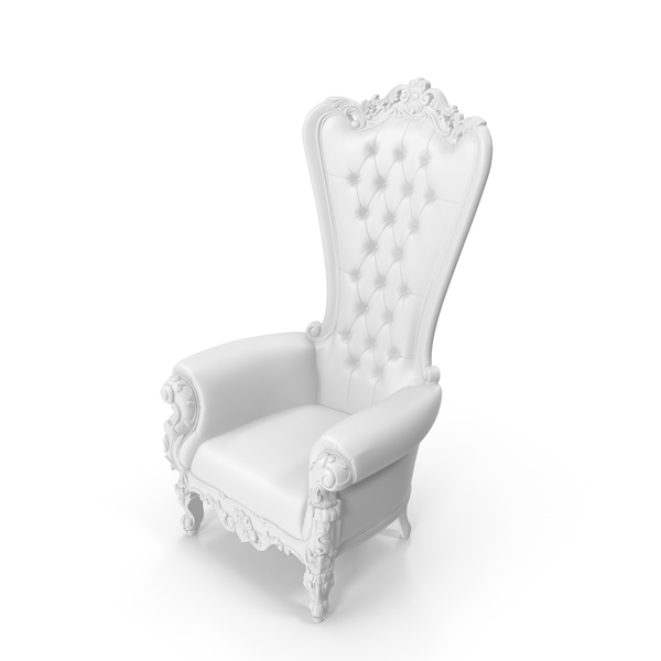 Absolom Roche Arm Chair Leather White PNG & PSD Images
