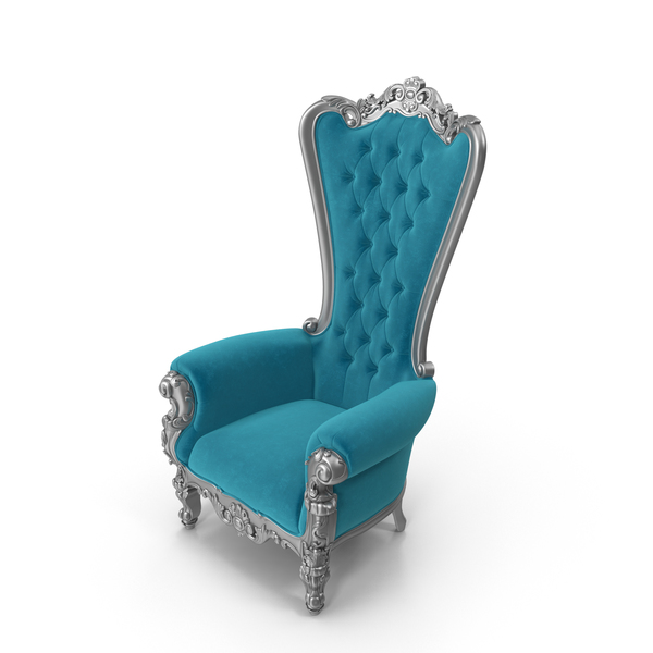 Absolom Roche Arm Chair Velvet & Silver PNG & PSD Images