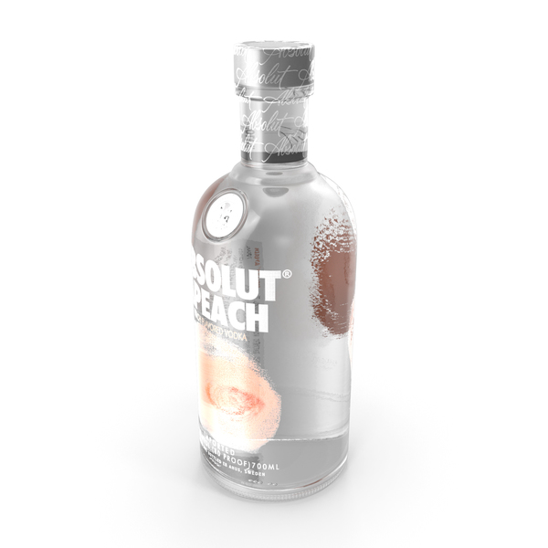 Absolut Apeach Vodka Bottle PNG & PSD Images