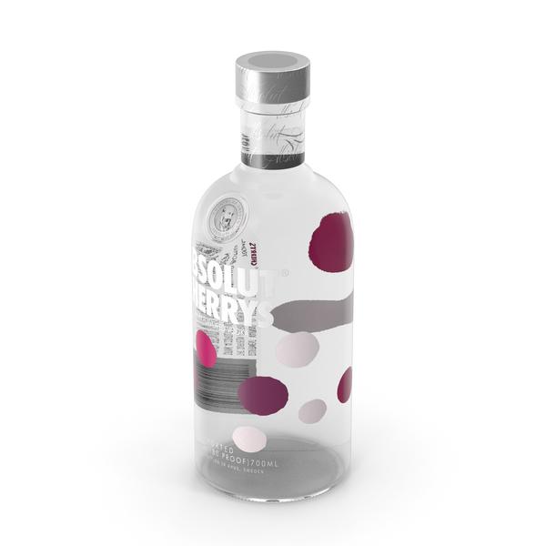 Absolut Cherry's Vodka Bottle PNG & PSD Images