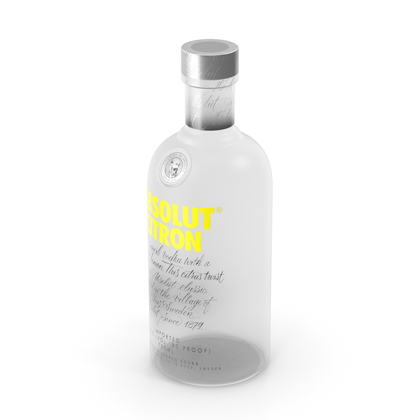 Absolut Citron Vodka Bottle PNG & PSD Images