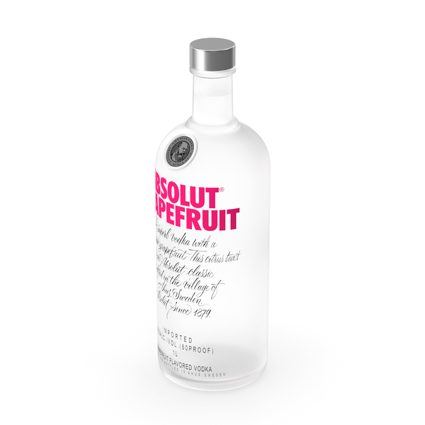 Absolut Grapefruit Vodka PNG & PSD Images