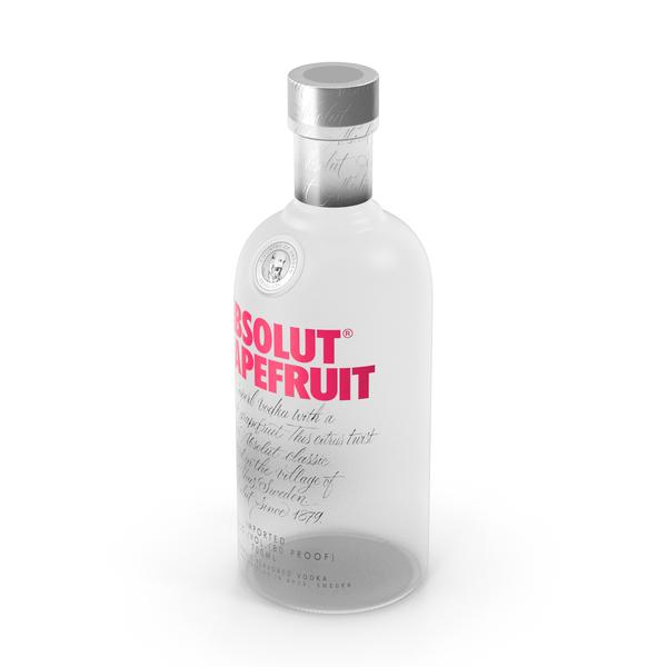 Absolut Grapefruit Vodka Bottle PNG & PSD Images