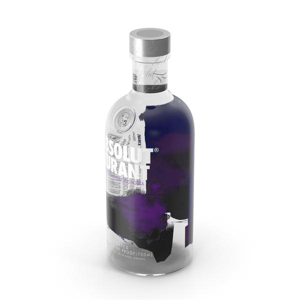 Absolut Kurant Vodka Bottle PNG & PSD Images