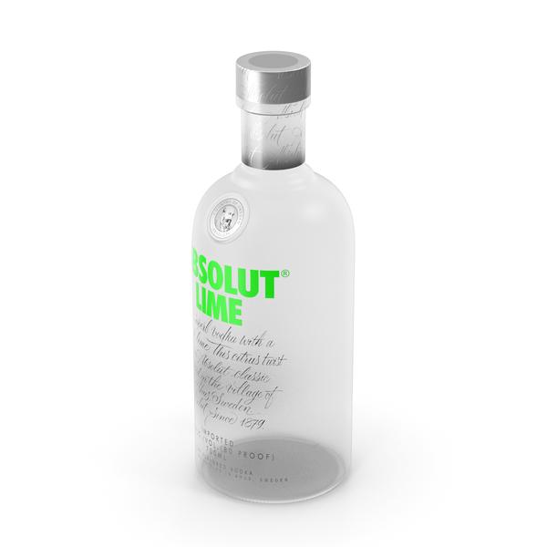 Absolut Lime Vodka Bottle PNG & PSD Images