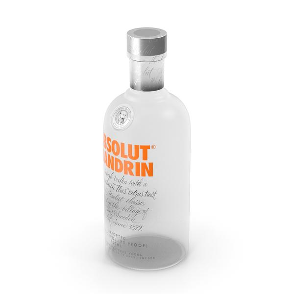Absolut Mandrin Vodka Bottle PNG & PSD Images