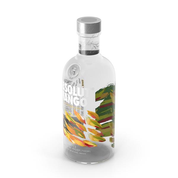 Absolut Mango Vodka Bottle PNG & PSD Images