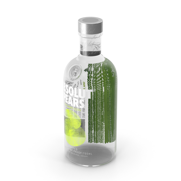 Absolut Pears Vodka Bottle PNG & PSD Images