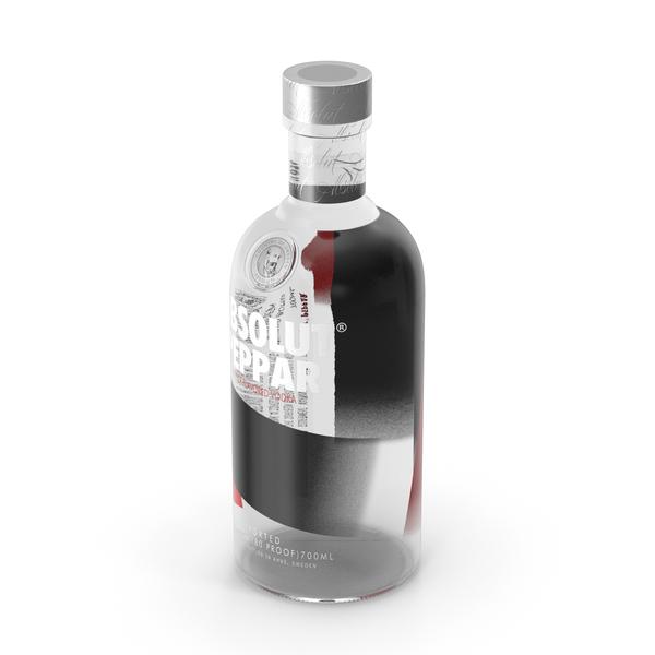 Absolut Peppar Vodka Bottle PNG & PSD Images