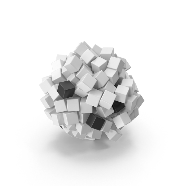Abstract Cloud of Cubes PNG & PSD Images