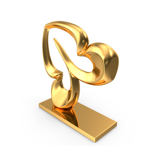 Sculpture: Abstract Figure Gold PNG & PSD Images