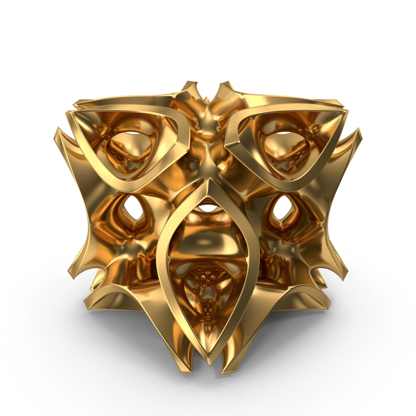 Sculpture: Abstract Surface Cube PNG & PSD Images
