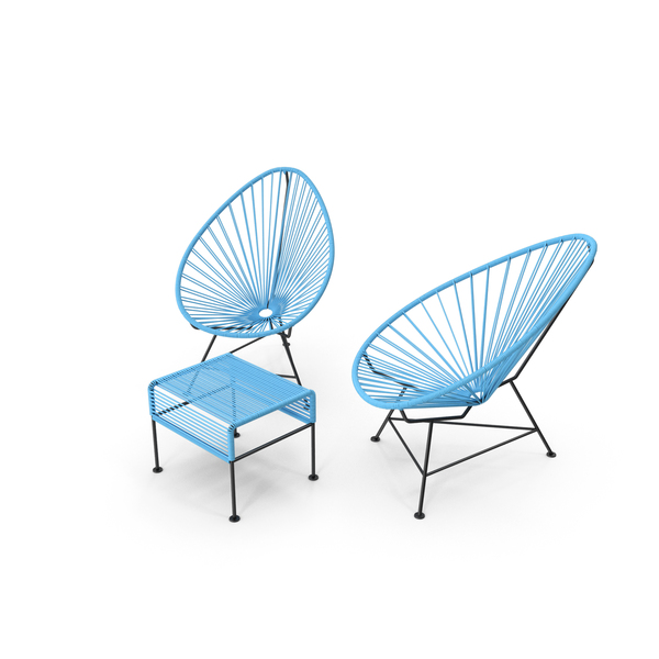 Patio Furniture: Acapulco Chair Ottoman PNG & PSD Images