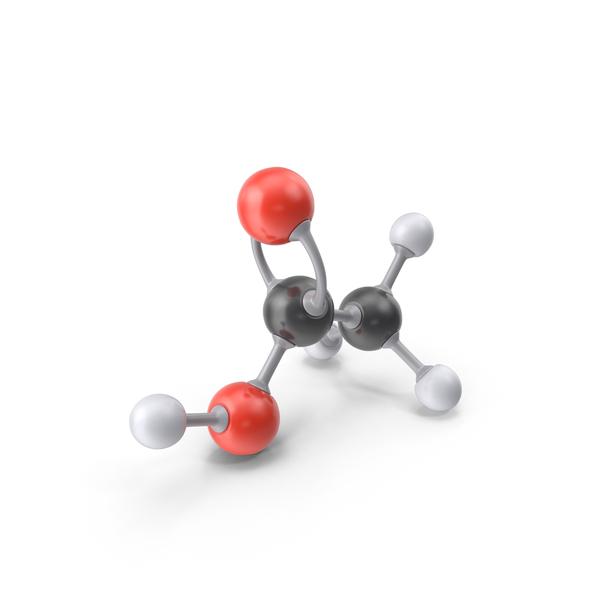 Acetic Acid Molecule PNG & PSD Images