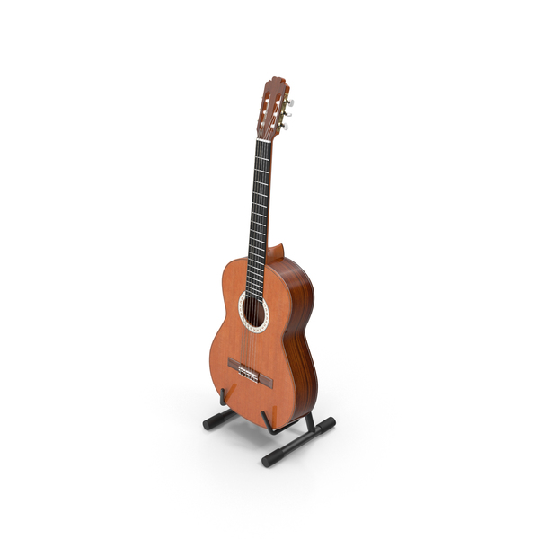 Acoustic Guitar & Stand Object
