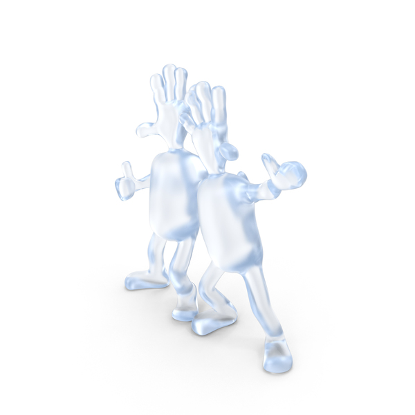 Acrylic Abstract Figurine Friends PNG & PSD Images