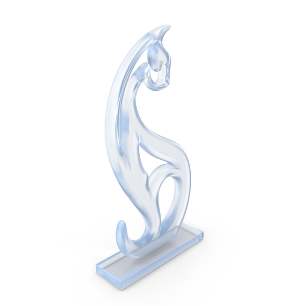 Acrylic Cat Figurine PNG & PSD Images