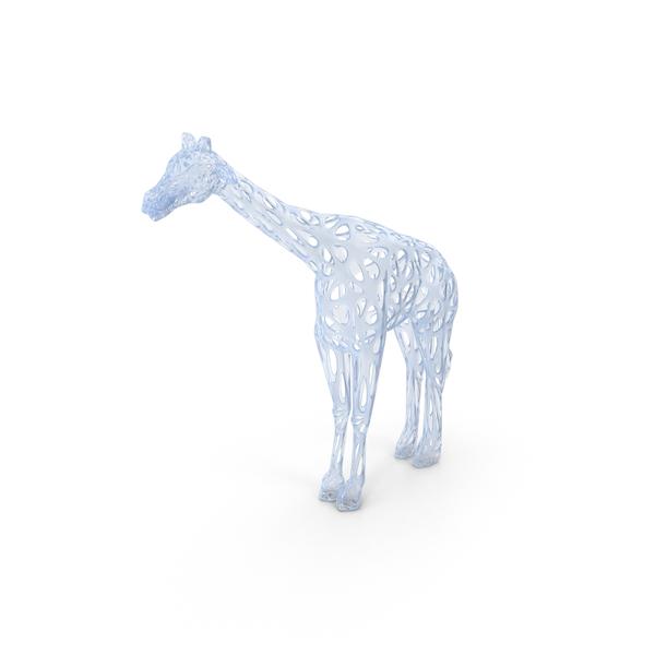 Acrylic Giraffe Voronoi Style PNG & PSD Images