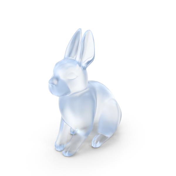 Acrylic Rabbit Figurine PNG & PSD Images