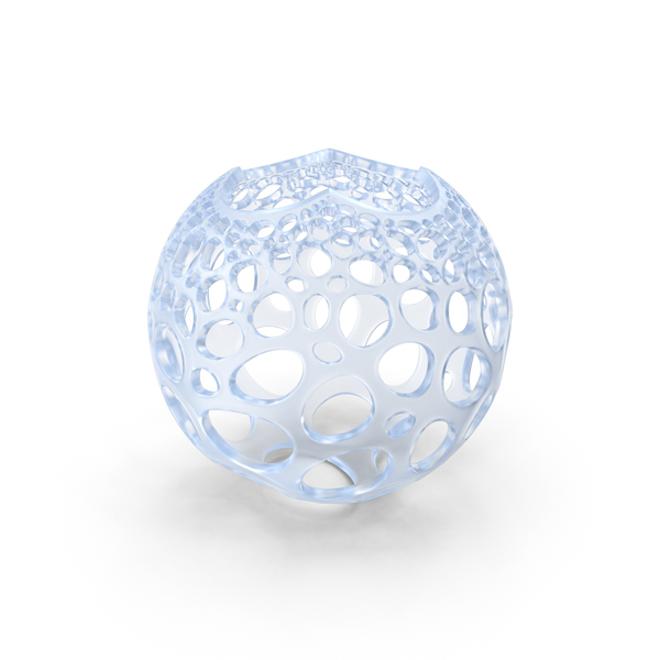 Acrylic Stereographic Voronoi Sphere PNG & PSD Images