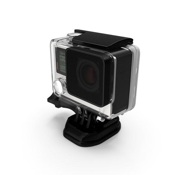 Action Camera in Aqua Box PNG & PSD Images