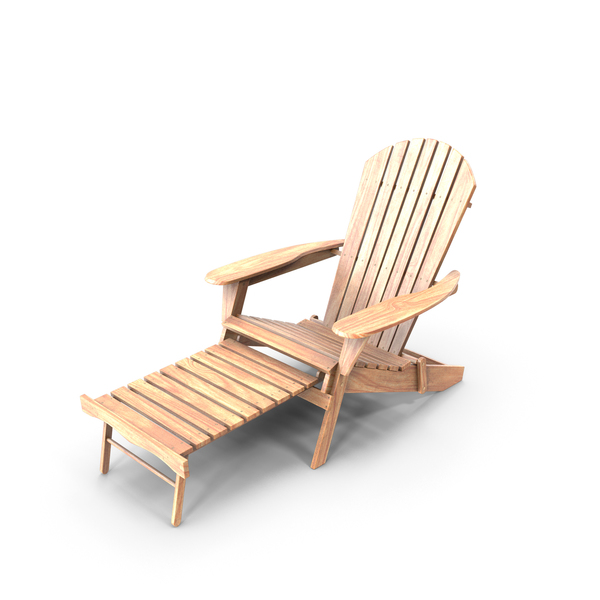 Chair: Adirondack Outdoor Armchair PNG & PSD Images