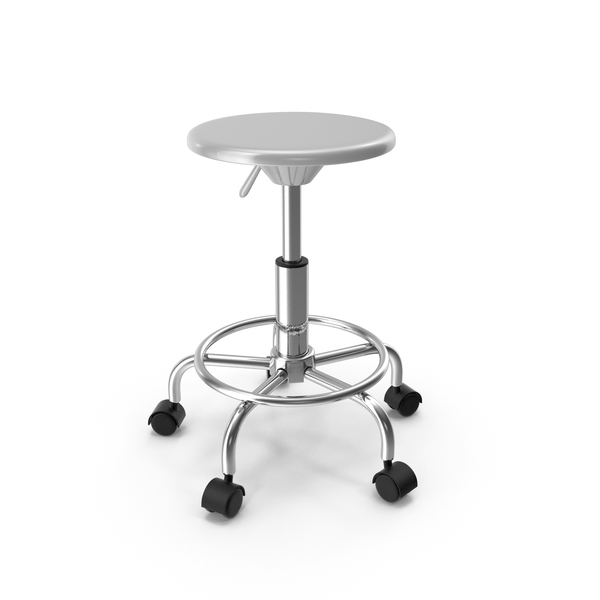 Adjustable Drafting Stool White PNG & PSD Images