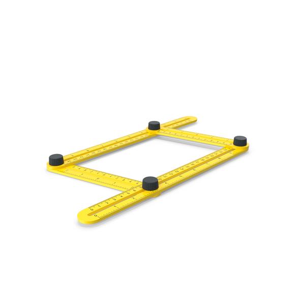 Adjustable Four Sided Folding Measuring Ruler PNG & PSD Images