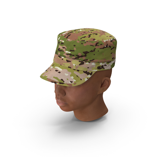 African American Female Soldier Head PNG & PSD Images