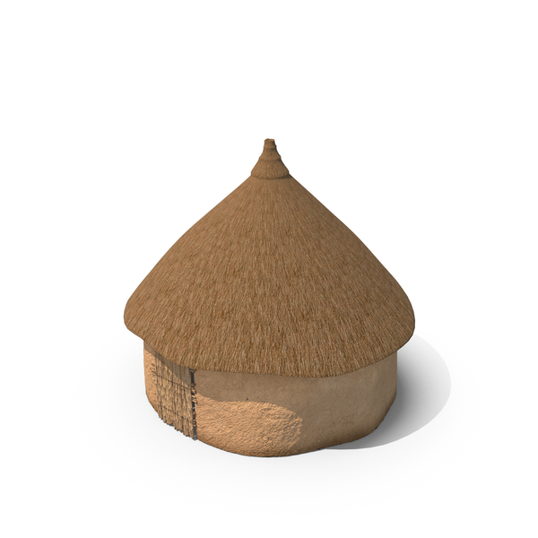 Thatched Hut: African Round Clay House PNG & PSD Images