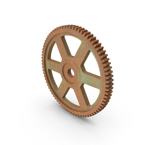Aged Copper Spur Gear Object