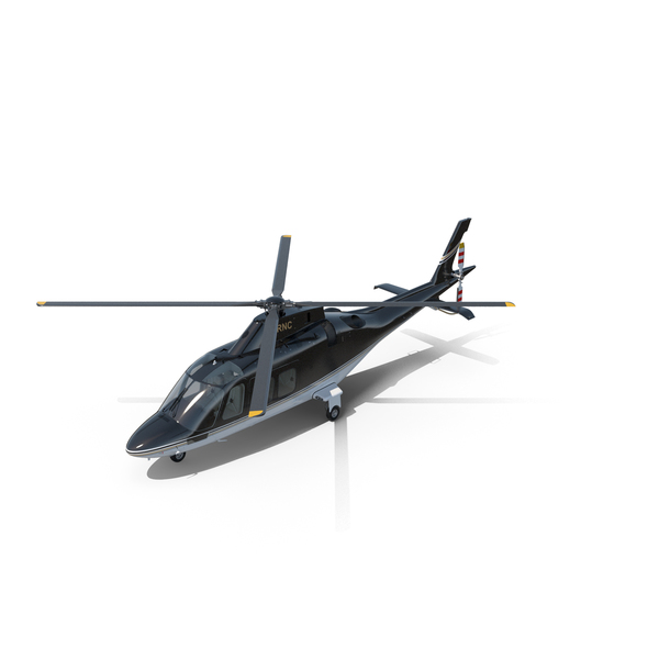 Agusta AW109S Grand Black Helicopter PNG & PSD Images