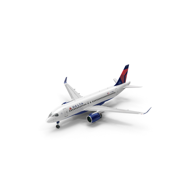 Airplane: Airbus A220 100 Delta PNG & PSD Images