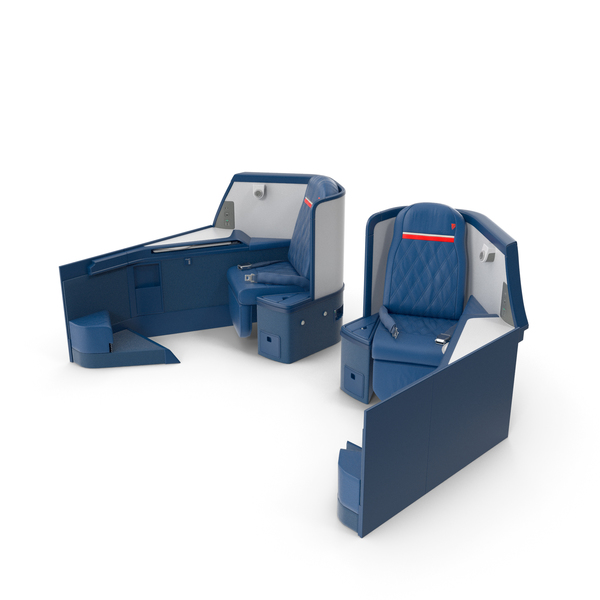 Airbus A330-300 Delta One Business Class Seats Side PNG & PSD Images
