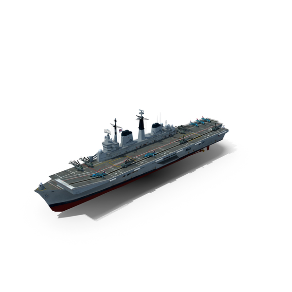 Aircraft Carrier HMS Ark Royal R07 PNG & PSD Images