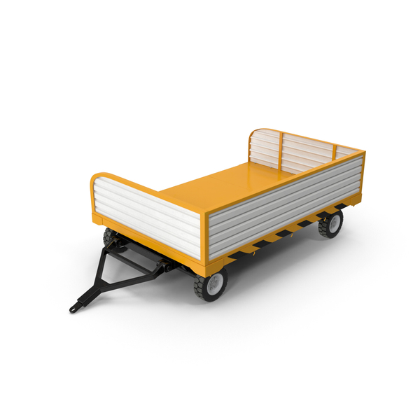 Baggage Loader: Aircraft Tow Tractor Trailer PNG & PSD Images