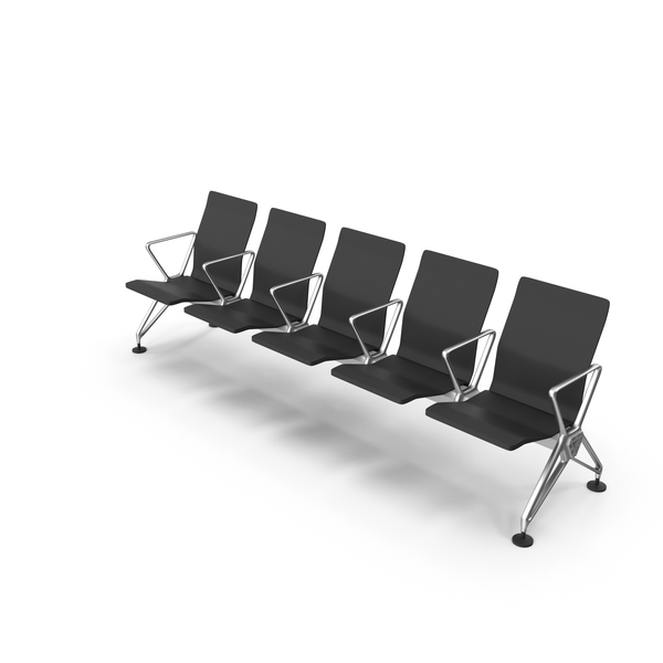Airport Seating: Airline Public Space Waiting Area Chairs PNG & PSD Images