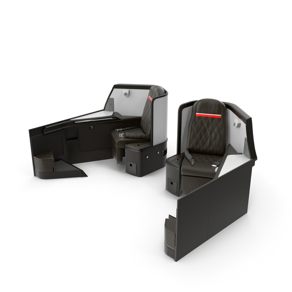 Airplane Business Class Seats Side PNG & PSD Images