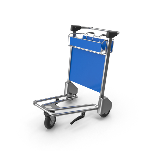 Luggage Trolley: Airport Cart PNG & PSD Images