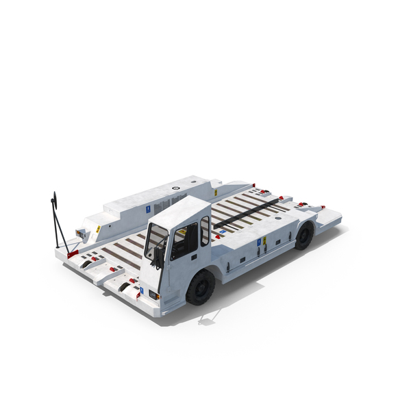 Baggage Cart: Airport Container Pallet Transporter Object