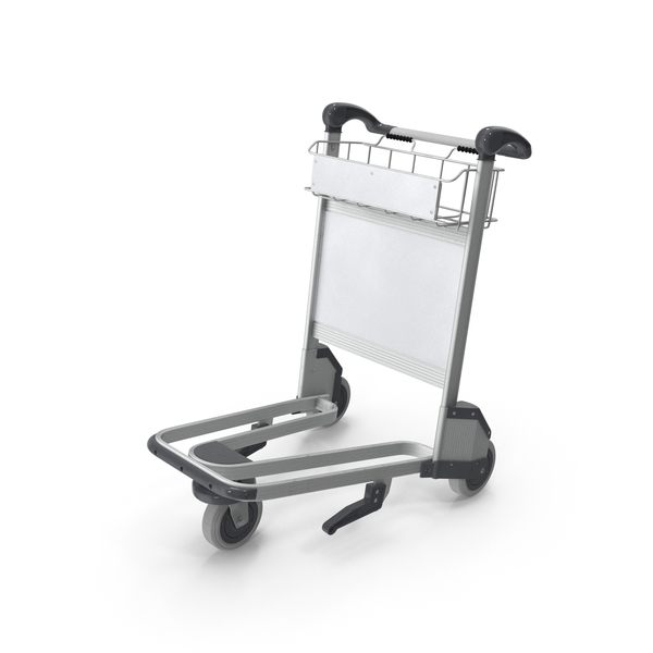 Airport Luggage Trolley Empty PNG & PSD Images
